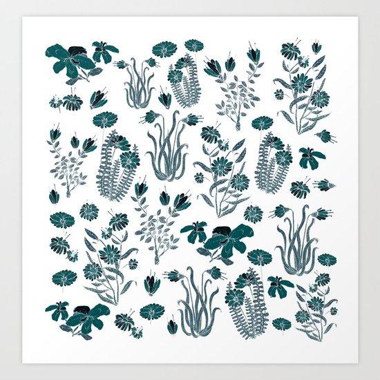 green or blue garden?? Art Print