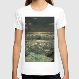 The Longships Light nautical landscape painting by Julius Olsson T-shirt