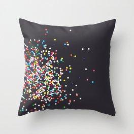 Sprinkles - Vintage Black Throw Pillow