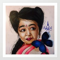 ahs Art Prints featuring Ma Petite-AHS by MELCHOMM