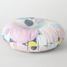 Mixed Lollies Abstract Floor Pillow