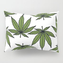 Pot Leaves Pillow Sham