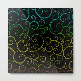 Rainbow Swirls Pop Art Metal Print