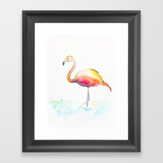Flamingow Framed Art Print