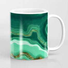 Gold And Malachite Marble Coffee Mug