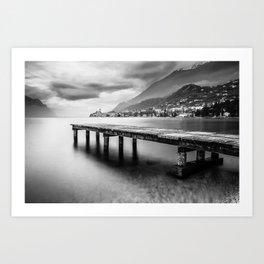Sunset in Malcesine, Lake Garda Art Print