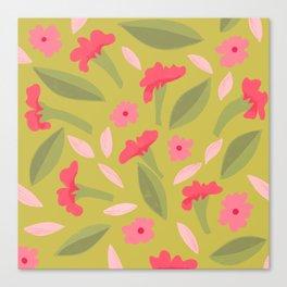 Pink Sweet Pea Flowers Canvas Print