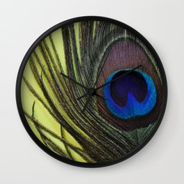 Peacock Pride Wall Clock