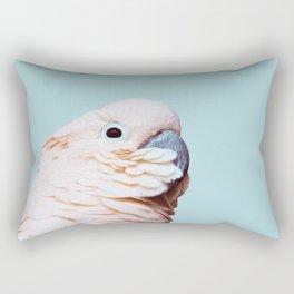 Parrot Photography | Pink Bird |  Tropical | Exotic | Turquoise Art | Blush Pink Rectangular Pillow