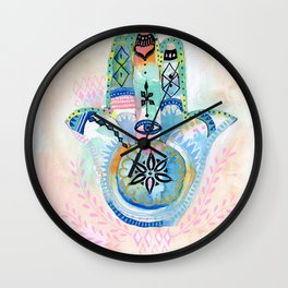 Morocco Hamsa Hand Wall Clock