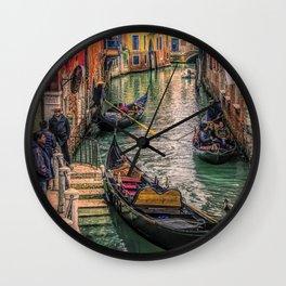 Gondolas at Sunset Wall Clock