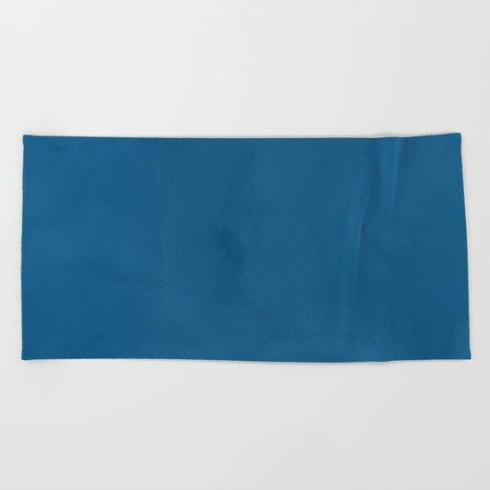 Saltwater Taffy Teal Watercolor Beach Towel