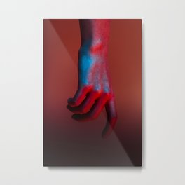 Red Hot Hands 2 of 4 - Modern Photography Metal Print