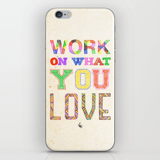 Life & Love iPhone & iPod Skin