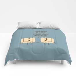 Happy Smile Keyboard Buttons Comforters
