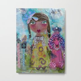 Phoebe & Poof - Whimsies of Light Children Series Metal Print