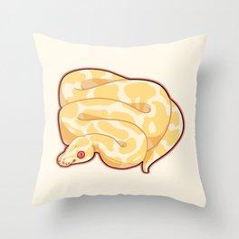 Albino Ball Python Throw Pillow