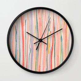 Loose Watercolor Lines 1 Wall Clock