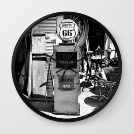 Route 66 Gas Wall Clock