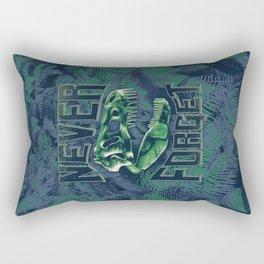 Never Forget T-Rex Rectangular Pillow