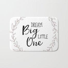Dream Big Little One Nursery Print Bath Mat
