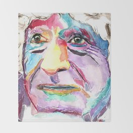 Third Doctor / Jon Pertwee Throw Blanket