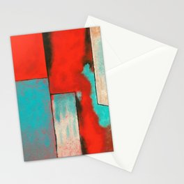 The Corners of My Mind, Abstract Painting Stationery Cards