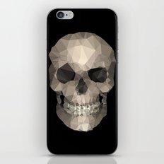 Polygons skull black iPhone & iPod Skin