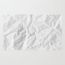 WRINKLED WHITE PAPER SHEET Rug