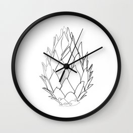 """""""Botanical Collection"""" - Protea Flower Wall Clock"""