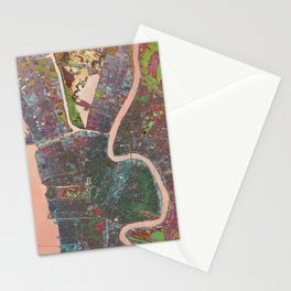 A Map of Vibrant New Orleans Stationery Cards