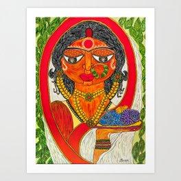 East Indian Bengali Bride Art Print