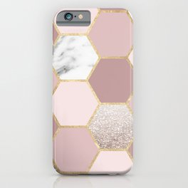 Sensations of the mind rose gold iPhone Case