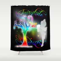 fairytale Shower Curtains featuring Fairytale by Augustinet