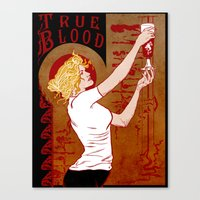 true blood Canvas Prints featuring True Blood Nouveau by Nana Leonti