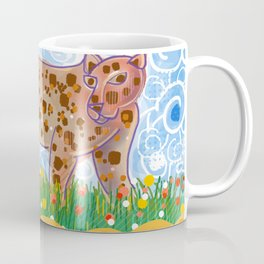 Leopard in the grass Coffee Mug