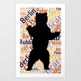 Gay bear pride lgbt bears osos queer art  Art Print