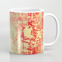 Brilliant Encounter, Abstract Art Turquoise Red Coffee Mug