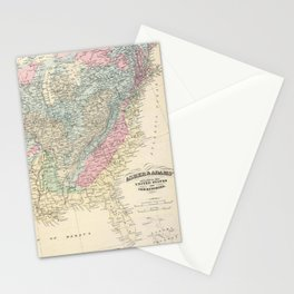 Vintage United States Geological Map (1874) Stationery Cards