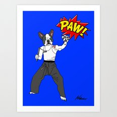 PAW POW - Kungfu Dog Art Print
