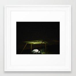 Camp Vibes. Monahans Sandhills, Texas Framed Art Print