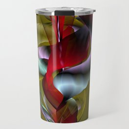 Flowered Khaki Travel Mug