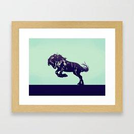 Dark Blue Stallion Framed Art Print