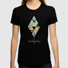 The Legend of Zelda: The Windwaker LARGE Womens Fitted Tee Black