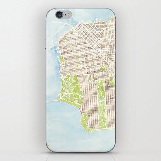 San Francisco CA City Map  iPhone & iPod Skin