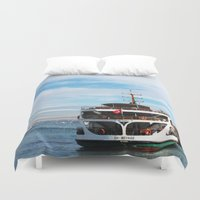 ship Duvet Covers featuring Ship by kartalpaf