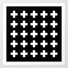 Swiss Cross Black Kunstdrucke