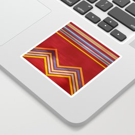 Stripes and Chevrons Ethic Pattern Sticker