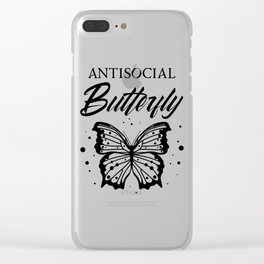 Antisocial Butterfly Clear iPhone Case