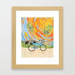 FL Keys Bicycle Framed Art Print